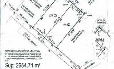 LOTE 22 X 62 m2 ARROYO LEYES - CALLE 80